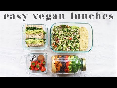 EASY VEGAN LUNCHES FOR SCHOOL & WORK | Simple Meal Prep Ideas
