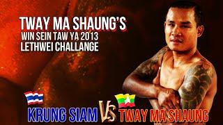 Tway Ma Shaung  63 kg Vs Krung / Petchtae Tor, MaxMuayThai 79 kg  -  Myannar Lethwei, Lekkha Moun