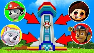 SOMEONE WATCHING LOOKOUT TOWER HQ RYDER EXE PAW PATROL CHASE MARSHALL SECRET BASE Hello Neighbor Mod