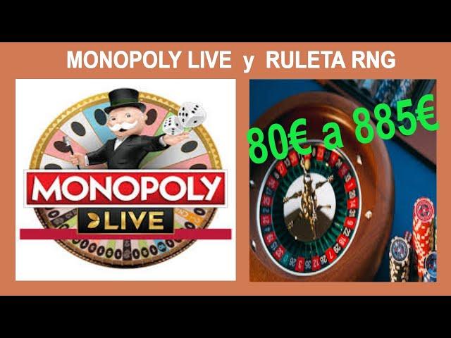 Arriesgo 80€ en el Monopoly live y la Ruleta Rng 🔥 Gran Victoria en el Casino 🥇