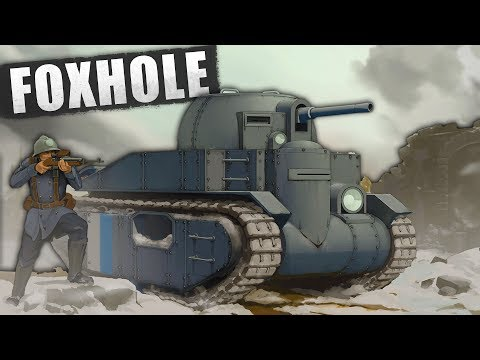 EPIC Tank Gameplay!  Massive MMO Battlefield! (Foxhole NEW Update Gameplay - Tank Battles)