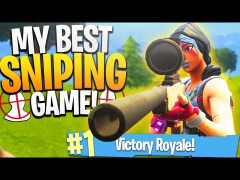 My BEST SNIPING Game on Fortnite! - PS4 Fortnite Sniping Gameplay