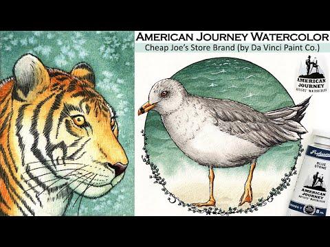 American Journey Watercolor Review Cheap Joe's Unique Mixtures Da Vinci Paint Co + Kilimanjaro Paper