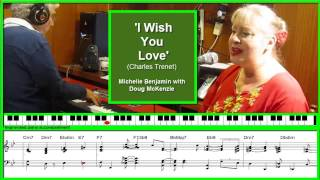 'I Wish You Love' - Michelle Benjamin with Doug McKenzie. Jazz piano tutorial.