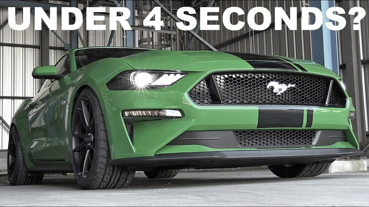 How fast can the 2019 ford mustang gt hit 60mph