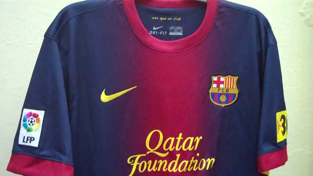 454317c27 Nike Fc Barcelona 2012 13 Home Football Shirt Soccer Jersey Adult Top Video  Tour! - YouTube