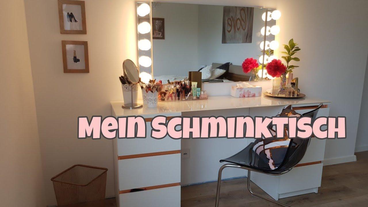 mein schminktisch inkl inhalt ikea schminktisch diy die siwuchins youtube. Black Bedroom Furniture Sets. Home Design Ideas