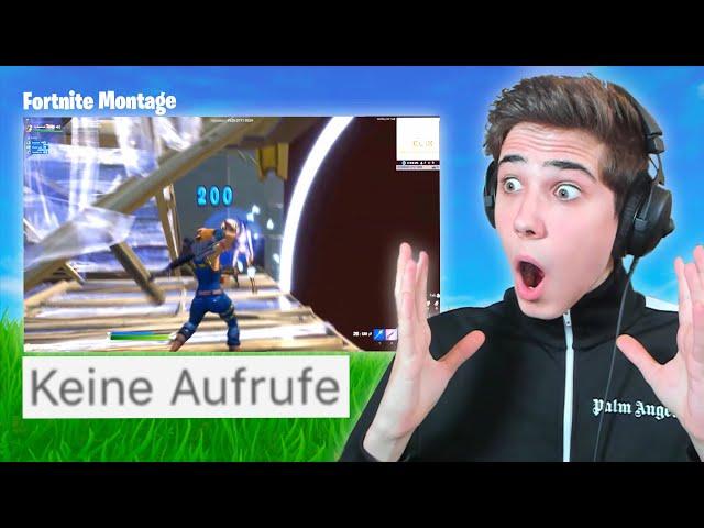 ich REAGIERE auf Fortnite MONTAGE's mit 0 AUFRUFEN! (unerwartet..)
