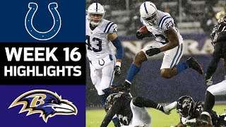 Colts vs. Ravens | NFL Week 16 Game Highlights