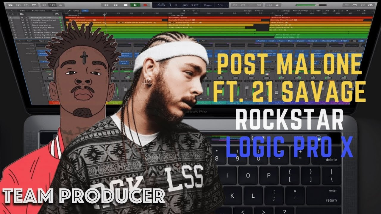 Post Malone ft  21 Savage - Rockstar (Logic Pro X Remake + FREE DOWNLOAD)