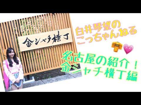 白井琴望 こっちゃんねる / 名古屋の紹介・金シャチ横丁編