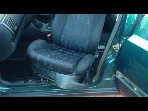 vw golf mk3 how to remove front seats youtube rh youtube com 1988 VW Golf 1987 VW GTI