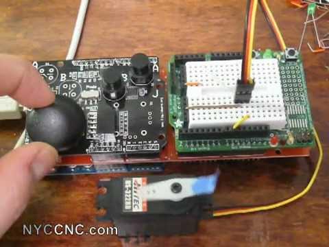 Using arduino xbox type shield to control a servo motor for Types of servo motor