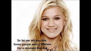 kelly clarkson a moment like this lyrics