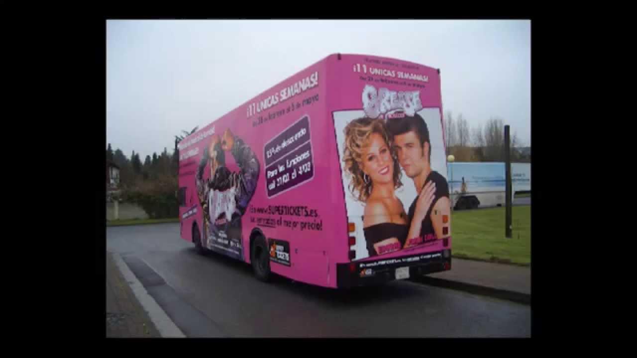 Autobuses Petaca promocional Grease