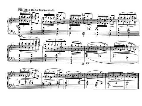 Schumann. Carnaval Op. 9. 5. Eusebius. Partitura. Audición.