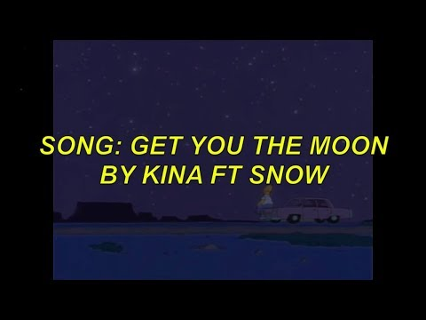 kina - get you the moon ft. snow lyric music video (the Simpsons version)