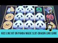 NICE LINE HIT ON PANDA MAGIC SLOT - DRAGON LINK GAME - SunFlower Slots
