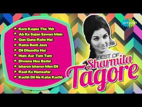 Best Of Sharmila Tagore - Old Hindi Songs - Bollywood Popular Actress - Sharmila Tagore Songs