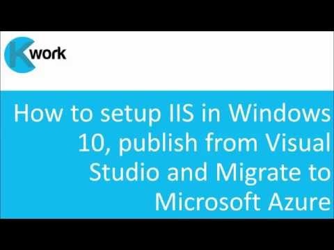 How to setup IIS in Windows 10, publish from Visual Studio and