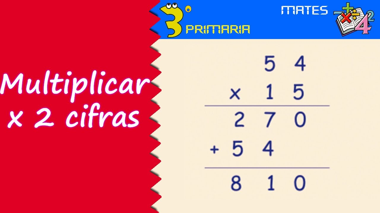 Matemáticas 3º Primaria Tema 11 Multiplicar Por Números De Dos Cifras