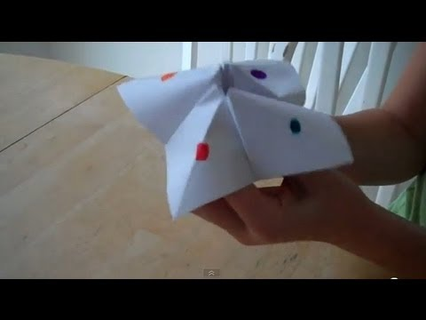 How to make a Cootie Catcher or Paper Fortune Teller, Step by Step