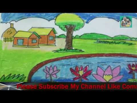 Natural Scenery Drawing | Drawing Picture