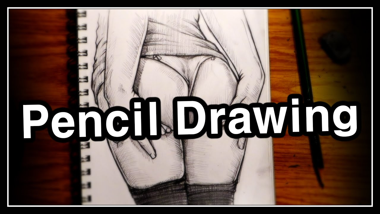 Pencil Drawing Technique. / Female Figure. / 4X speed Drawing process.