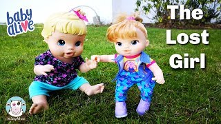 Baby Alive finds a lost little girl outside
