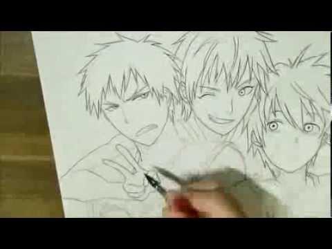 アナログで黒子のバスケ描いてみた23ペン入れ I Drew Kurokos
