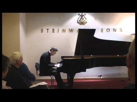 Misha Krivoruchko plays Rachmaninov 2nd Sonata (1st version) London,Steinway Hall