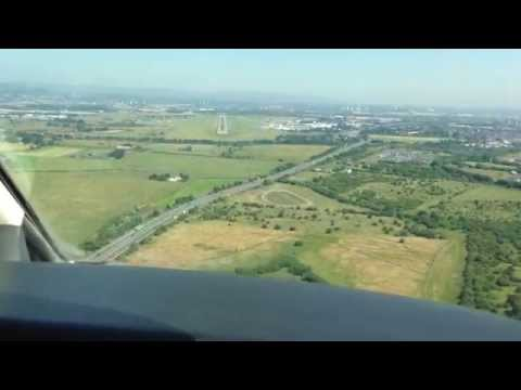 CJ4 Exec Flight - Approaching Glasgow (EGPF) ... and Surprise Royal Helicopter Boarding