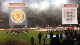 Scotland vs England 2014 national anthems
