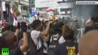 TPP deal sparks protests, central Auckland shutdown in New Zealand
