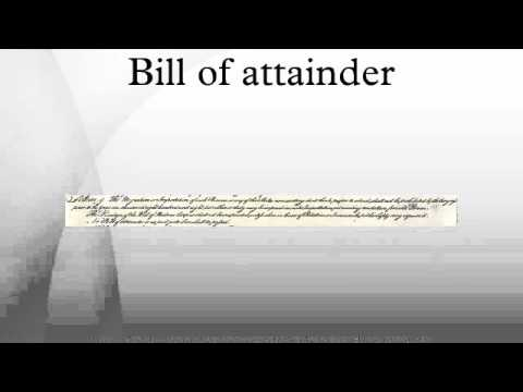 Bill of attainder