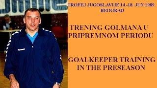 гандбол Handball rukomet : Goalkeeper Training - Trening golmana - Mirko Bašić TELEKINIRANJE