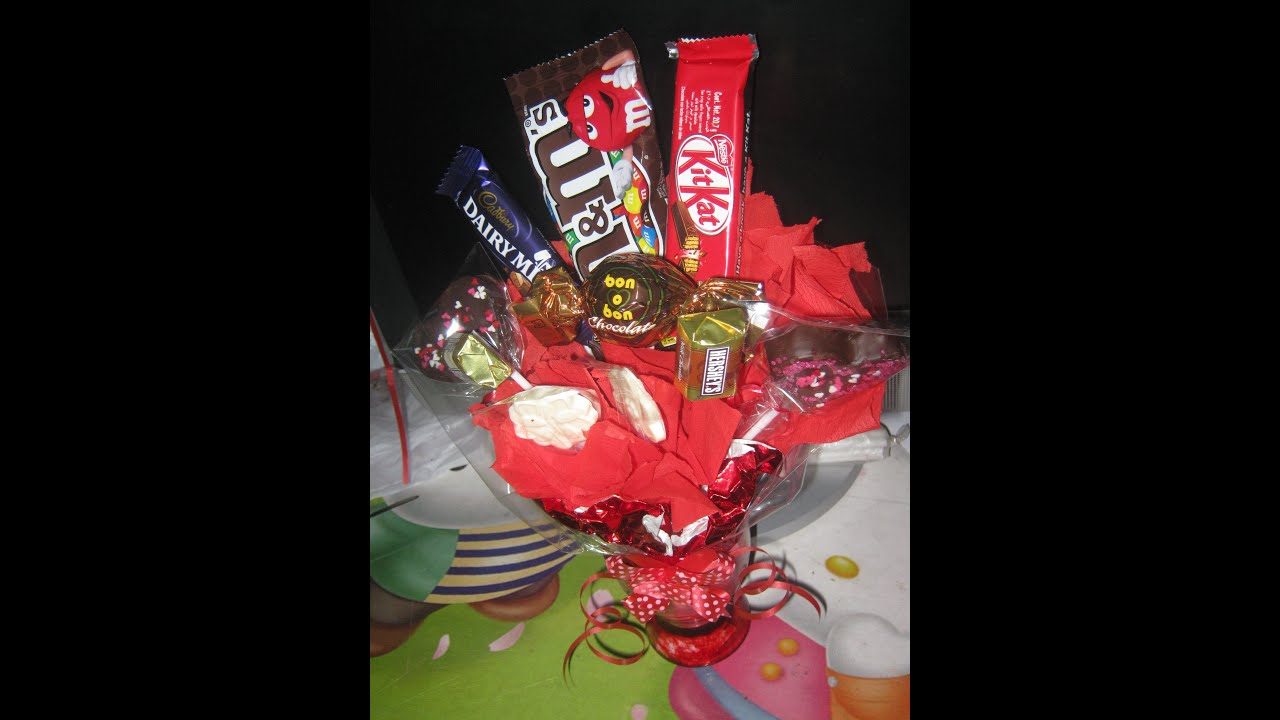 How To Make Chocolate Flower Basket : How to make chocolate candy bouquet