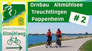 #AltmühltalRadweg [2] ▶Altmühlsee - Herrieden - Treuchtlingen - Pappenheim [RADREISE DOKU]