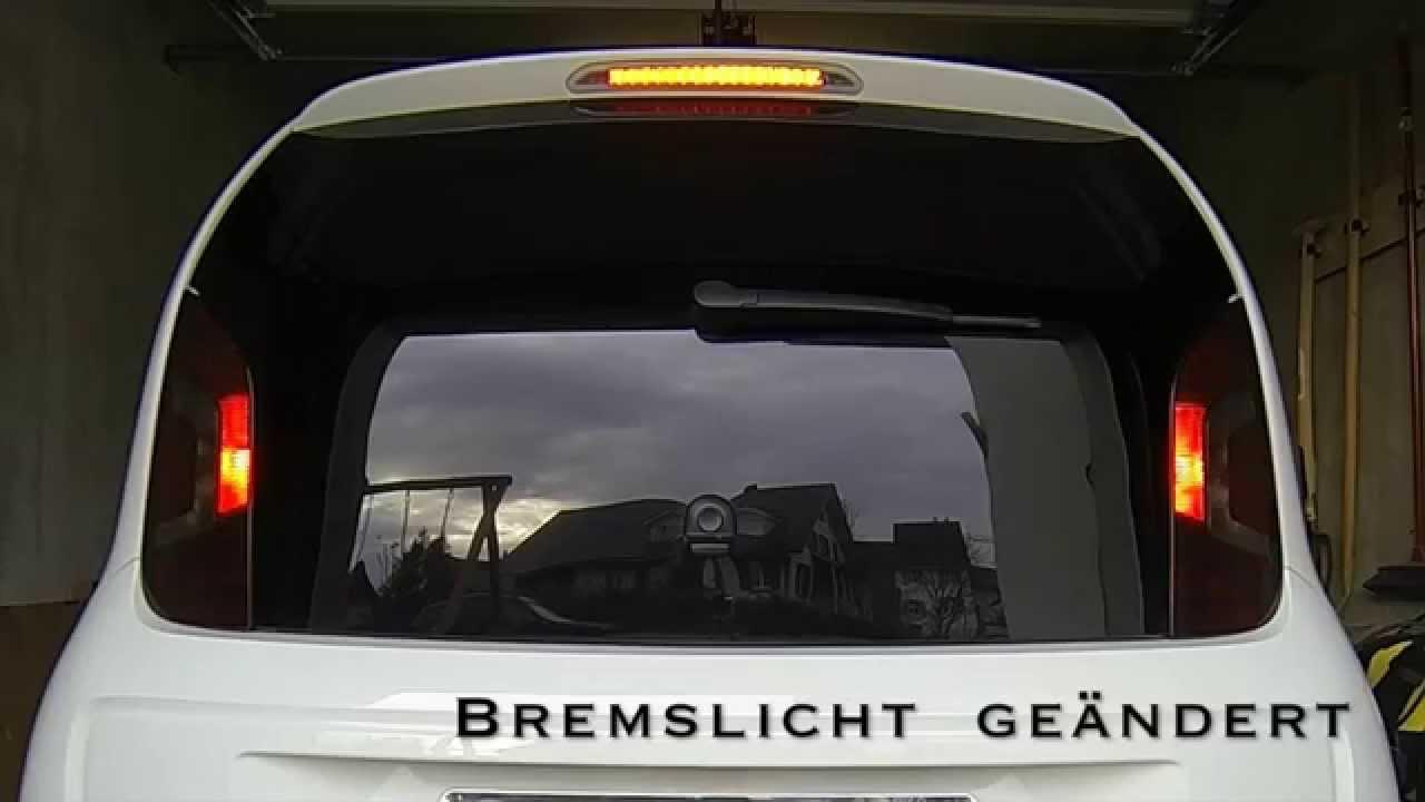 Vw Up Lampen : Vw up white bremslicht stop light youtube