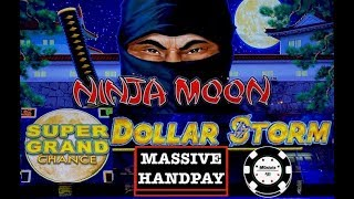 ⚡️DOLLAR STORM NINJA MOON ⚡️(2) HANDPAYS NEW STYLE OF LIGHTNING LINK SLOT ⚡️SUPER GRAND CHANCE