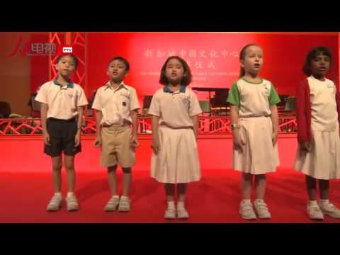 Singapore Primary Students Chant Trimetric Classic for President Xi Jinping