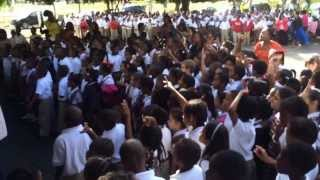 Pressure Busspipe at Ricardo Richards Elementary School .St.Croix US Virgin Islands .VI Nice