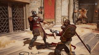 Assassin's Creed Origins: Gladiator Arena Krokodilopolis Gameplay in 4K - E3 2017