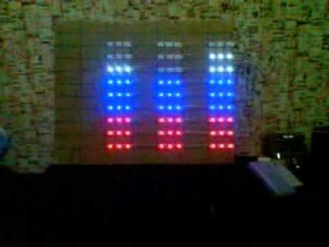 эквалайзер из светодиодной