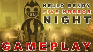 Hello Bendy Machine Five Horror Night Gameplay - Android Gameplay - By Mobile Simulators World