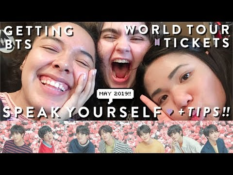 BUYING TICKETS FOR BTS 방탄소년단 SPEAK YOURSELF WORLD TOUR (+ Some Tips Hehe)!!