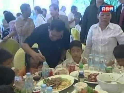 TVK PM Hun Sen visit at Phnom Penh Thmey School of Blind and Deaf Mute Children on 23 Nov 2013