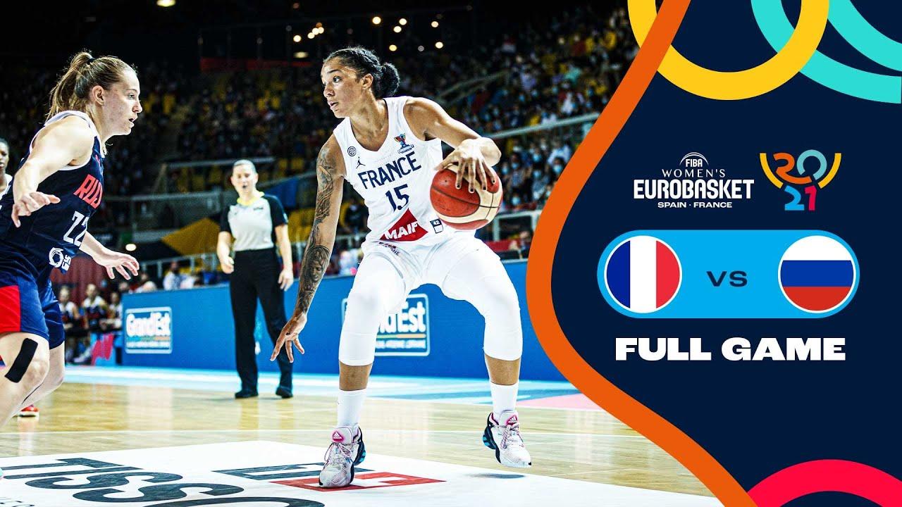 France v Russia   Full Game - FIBA Women's EuroBasket 2021 Final Round