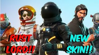 Fortnite Battle Royale - **NEW SKIN** RUST LORD!! - THE SCRAP KING!!