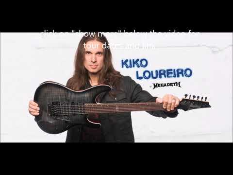 Megadeth guitarist Kiko Loureiro Canadian guitar clinic tour..!